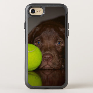Chocolate Labrador Puppy With Tennis Ball OtterBox Symmetry iPhone 7 Case