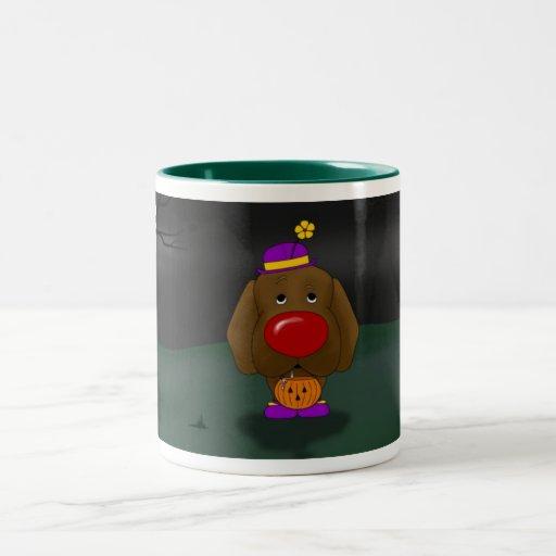 Chocolate Labrador Retreiver Halloween Coffee Mugs