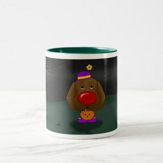 Chocolate Labrador Retreiver Halloween Two-Tone Coffee Mug