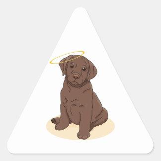 Chocolate Labrador Retriever Angel Triangle Sticker
