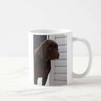 Chocolate Labrador Retriever Basic White Mug