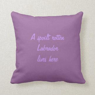 Chocolate labrador retriever dog custom cushion