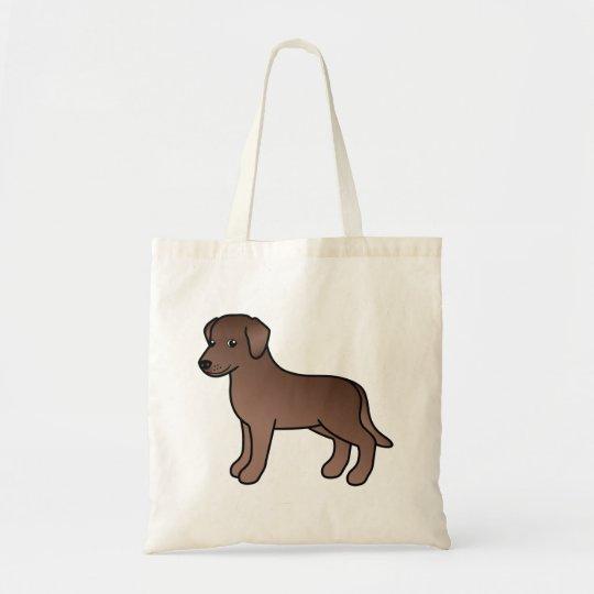Chocolate Labrador Retriever Dog Drawing Tote Bag