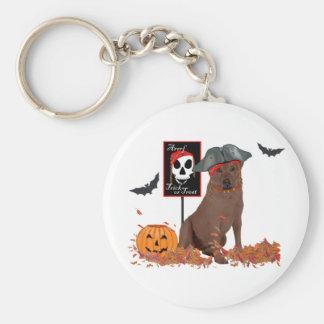Chocolate Labrador Retriever Halloween Key Chains