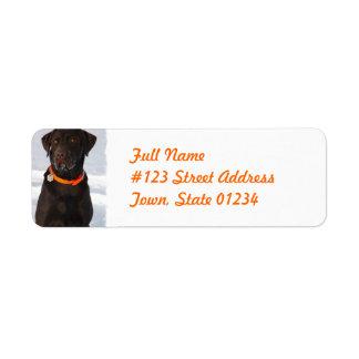 Chocolate Labrador Retriever Mailing Label Return Address Label