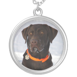 Chocolate Labrador Retriever Necklace