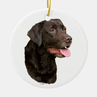 Chocolate Labrador Retriever ornament