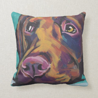 Chocolate Labrador Retriever Pop Art Pillow