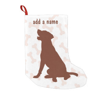 Chocolate Labrador Retriever Stocking