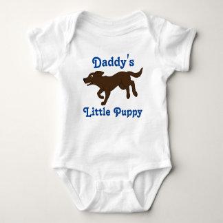 Chocolate Labrador Retriever with Blue Text T-shirt