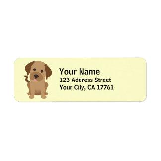 Chocolate Labrador Return Address Labels