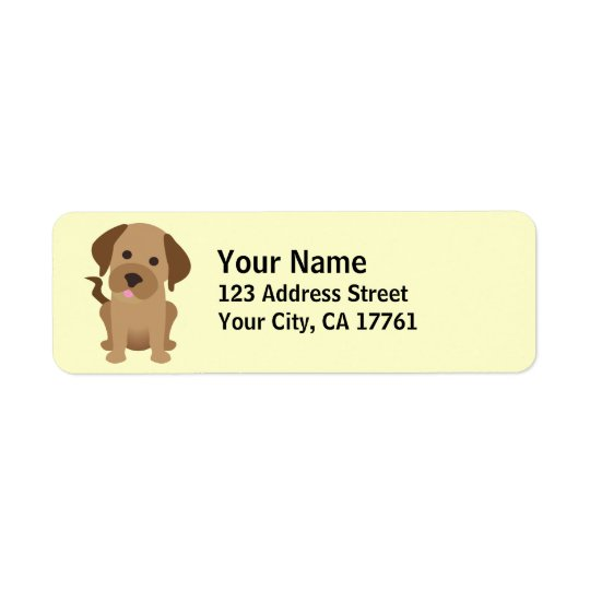 Chocolate Labrador Return Address Labels