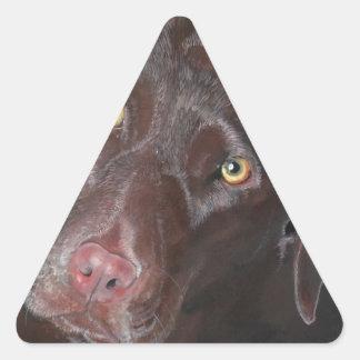 Chocolate Labrador Triangle Sticker