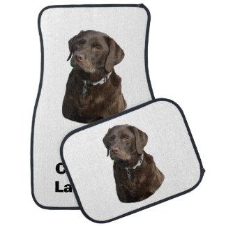Chocolate Labradors dog photo Floor Mat