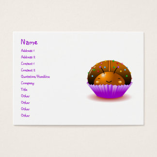 Chocolate Ladybug Cupcake Business Card