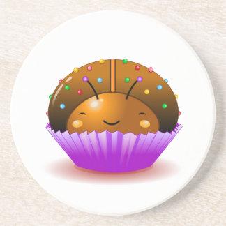Chocolate Ladybug Cupcake Coaster