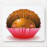 Chocolate Ladybug Cupcake Mousepad