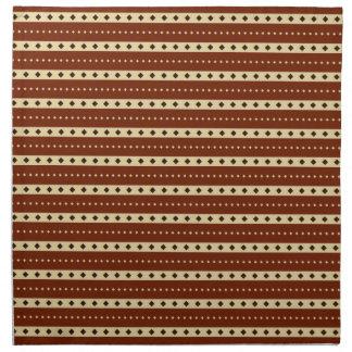 """Chocolate Latte"" Stripes cloth napkins"