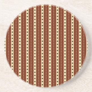 """Chocolate Latte"" Stripes coaster"