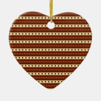 """Chocolate Latte"" Stripes custom ornament"