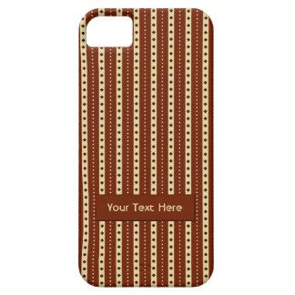 """Chocolate Latte"" Stripes iPhone case"
