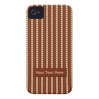 """Chocolate Latte"" Stripes iPhone case-mate Case-Mate iPhone 4 Cases"