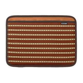 """Chocolate Latte"" Stripes MacBook sleeve"