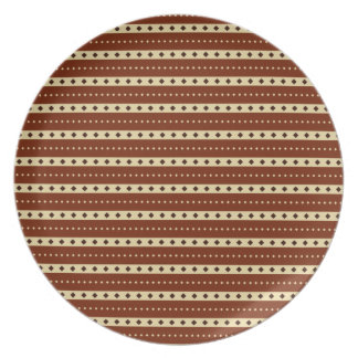"""Chocolate Latte"" Stripes plates"