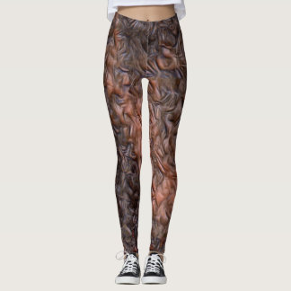 Chocolate Leather Rave Love Leggings