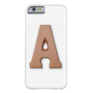Chocolate letter a barely there iPhone 6 case