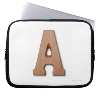 Chocolate letter a laptop sleeve