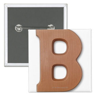 Chocolate letter b pins