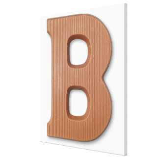 Chocolate letter b stretched canvas prints