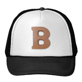 Chocolate letter B Cap