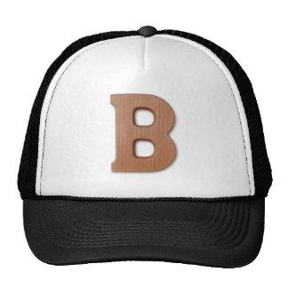 Chocolate letter B Cap