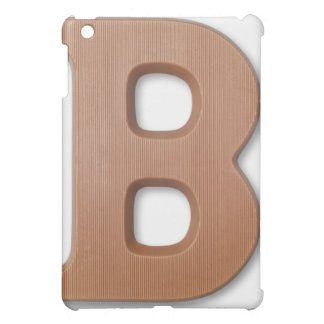 Chocolate letter b iPad mini cover