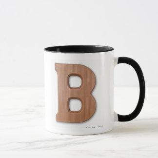 Chocolate letter b mug