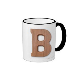 Chocolate letter b coffee mugs