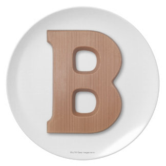 Chocolate letter b plate