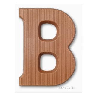 Chocolate letter b postcard