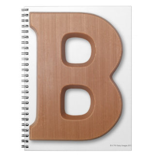 Chocolate letter b spiral notebook