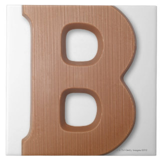 Chocolate letter b tile