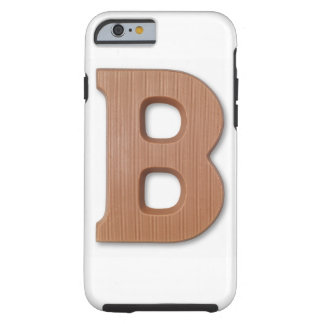 Chocolate letter b tough iPhone 6 case