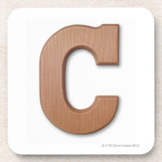 Chocolate letter c coaster