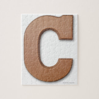 Chocolate letter c jigsaw puzzle