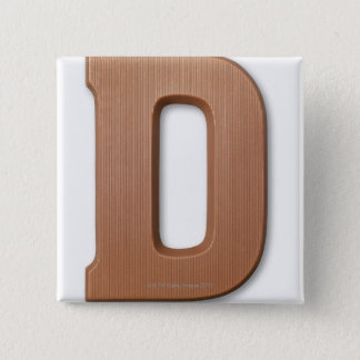 Chocolate letter d 15 cm square badge