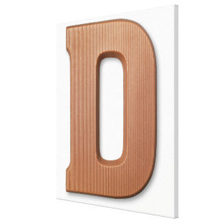 Chocolate letter d canvas print