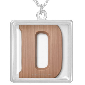 Chocolate letter d silver plated necklace