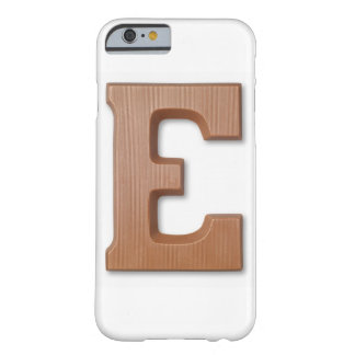 Chocolate letter e barely there iPhone 6 case