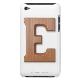 Chocolate letter e iPod Case-Mate cases